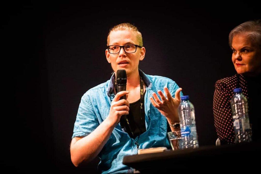 De Genderfilosoof spreekt tijdens het Internationaal Filmfestival Assen, foto: Knelis